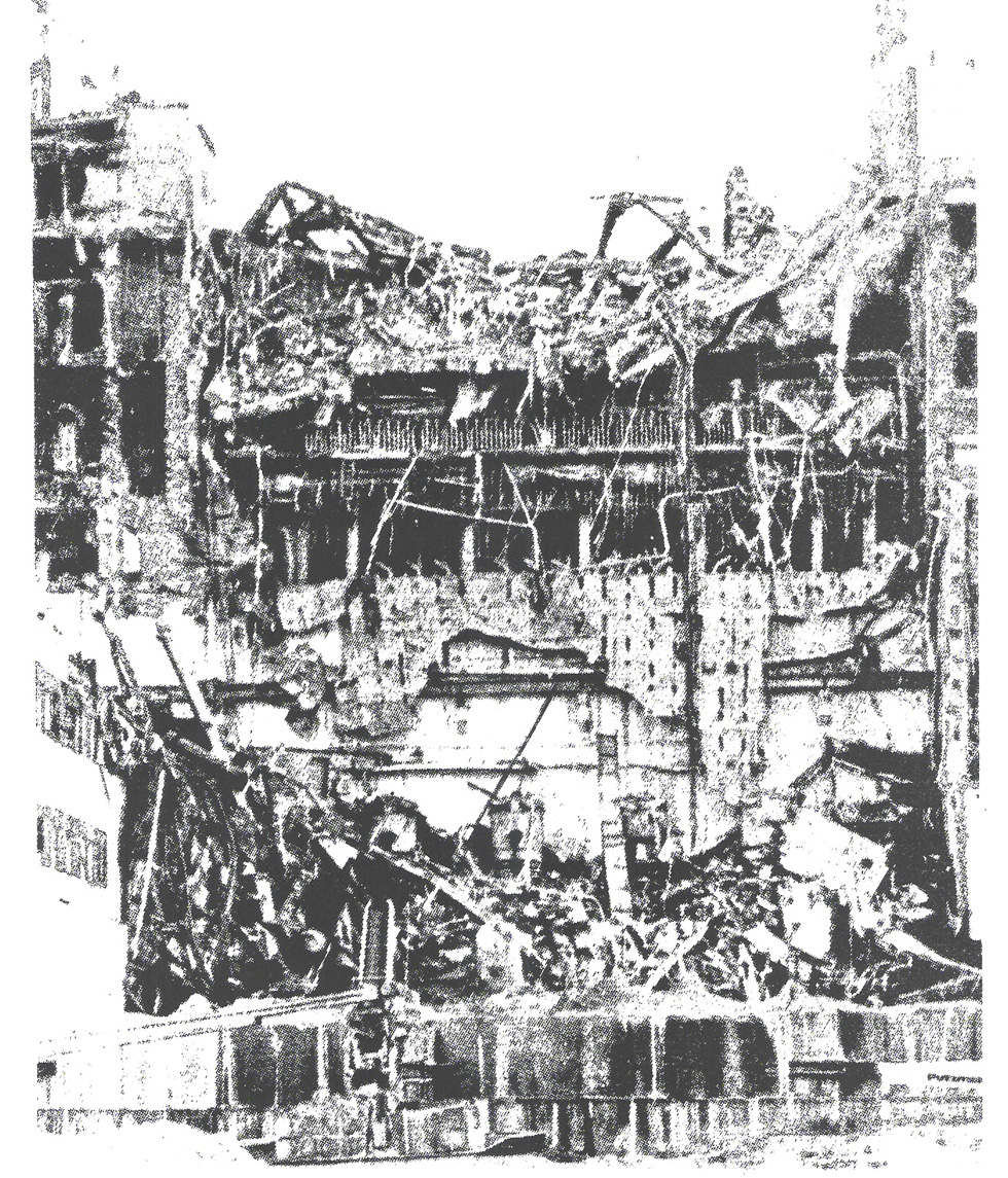 Взорвавшийся реактор. Фото предоставлено А. Калантырским
