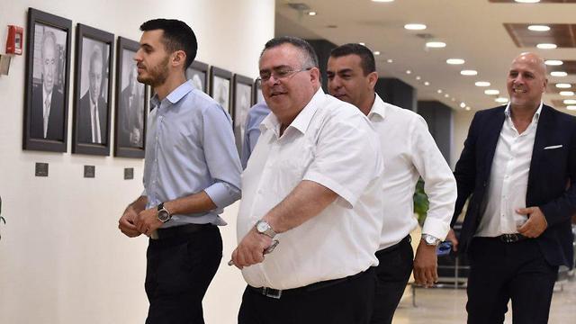 דוד ביטן בכניסה ללשכת ראש הממשלה (צילום: יואב דודקביץ')