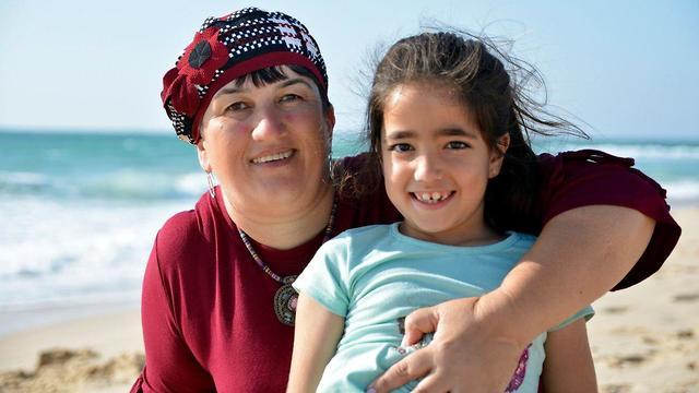 סיגל סופר ובתה תהל (צילום: חגית יוספי)
