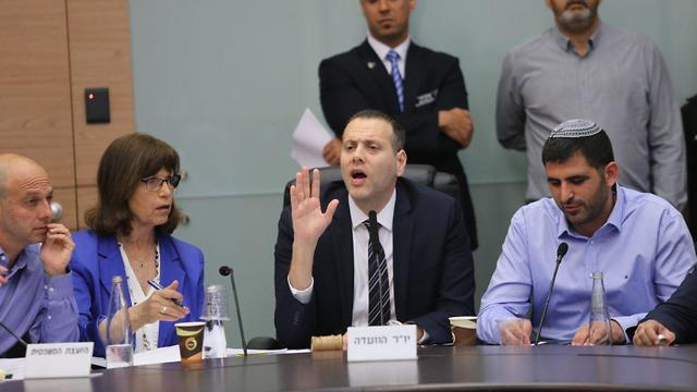 Likud MK Miki Zohar during a meeting of the Knesset committee on the bill to hold new elections