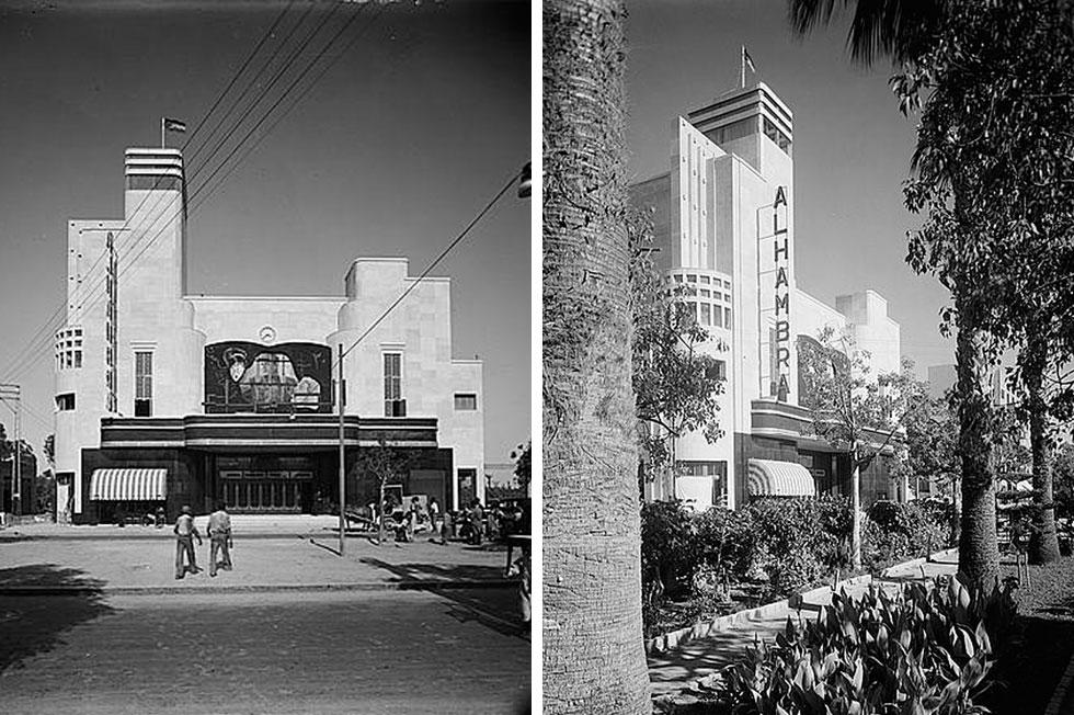 כאשר נחנך ''אלהמברה'' בסוף שנות ה-30 של המאה שעברה, בתכנונו של אדריכל לבנוני, הוא היה ראוותני ויוצא דופן. גם היום (צילומים: Library of Congress, Prints & Photographs Division, LC-DIG-matpc-03562/03561)