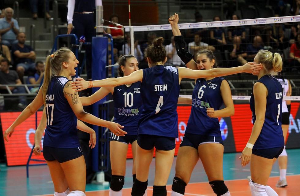 כדורעף נשים, נבחרת ישראל  (צילום: דוד סלברמן עבור איגוד הכדורעף)
