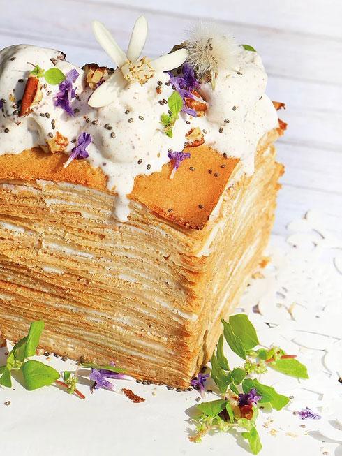 עוגת בלינצ'ס (צילום: הודליה כצמן BakeCare)