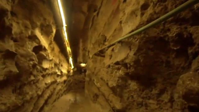 A Hezbollah attack tunnel dug under the Israel Lebanon border and uncovered by the IDF (Photo: IDF)