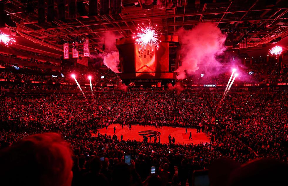 גמר ה-NBA נדד לקנדה (צילום: AFP)