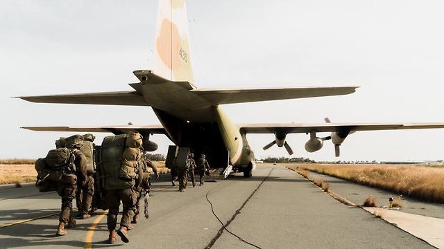 סיום תרגיל משותף של חיל האוויר ויחידת ״אגוז״ בשיתוף צבא קפריסין (צילום: דובר צה