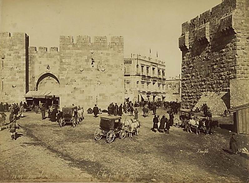 The Jaffa Gate, circa 1899 (Photo: Courtesy of National Library)