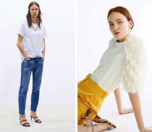 מימין: הנעליים השוות שקניתי ב–Uterque. משמאל: זארה חולצה לבנה (צילומים: Uterque, זארה)