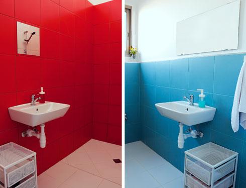 אריחים פשוטים בחדרי הרחצה והשירותים (צילום: נור עבדלגני)