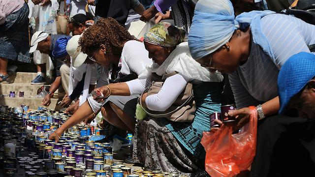 Le service commémoratif annuel commémorant le voyage de l'Éthiopie à Sion (Photo: Amit Shabi)