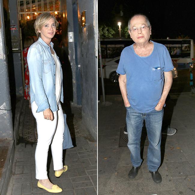 אחרי ההכרזה על הבחירות חייבים לצאת לחגוג. אמנון אברמוביץ ודנה ויס (צילום: ענת מוסברג)
