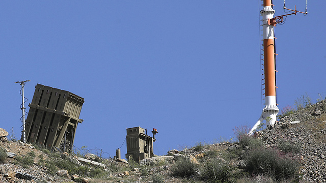 Iron Dome battery on Mt. Hermon (Photo: AFP)