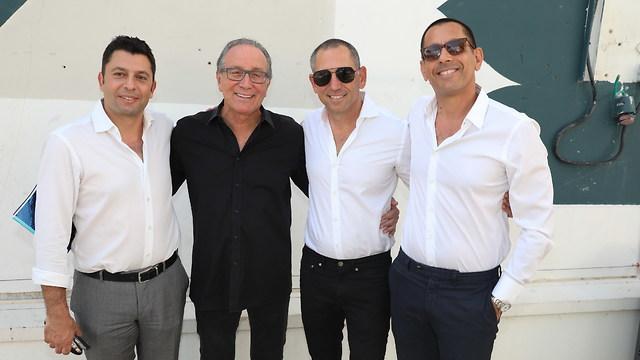 מימין: אילן קפון, צחי ארבוב, קובי רוגובין וזיו יעקבי (צילום: אלירן אביטל)