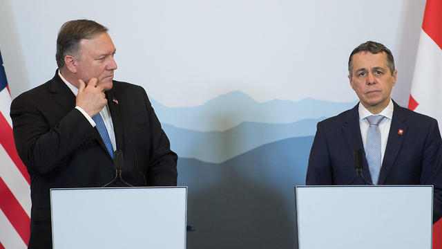 Mike Pompeo in Switzerland press conference on Iran with Foreign Minister Ignazio Cassis
