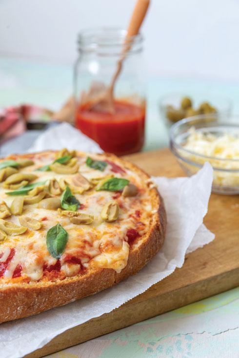 חביב הילדים: קיש פיצה בלחם (צילום: יעל אילן, סגנון: נעמה רן)