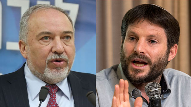 Rush to judgment: Avigdor Liberman and Bezalel Smotrich (Photo: Yoav Dudkevitch, Motti Kimchi)