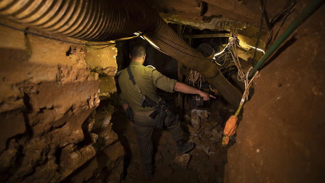 IDF gave journalists a tour of a tunnel dug below Israel's border with Lebanon
