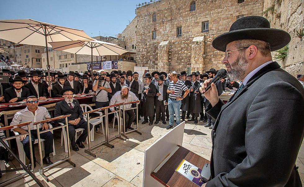 הרב הראשי דוד לאו בטקס בכותל (צילום: אלי איטקין)