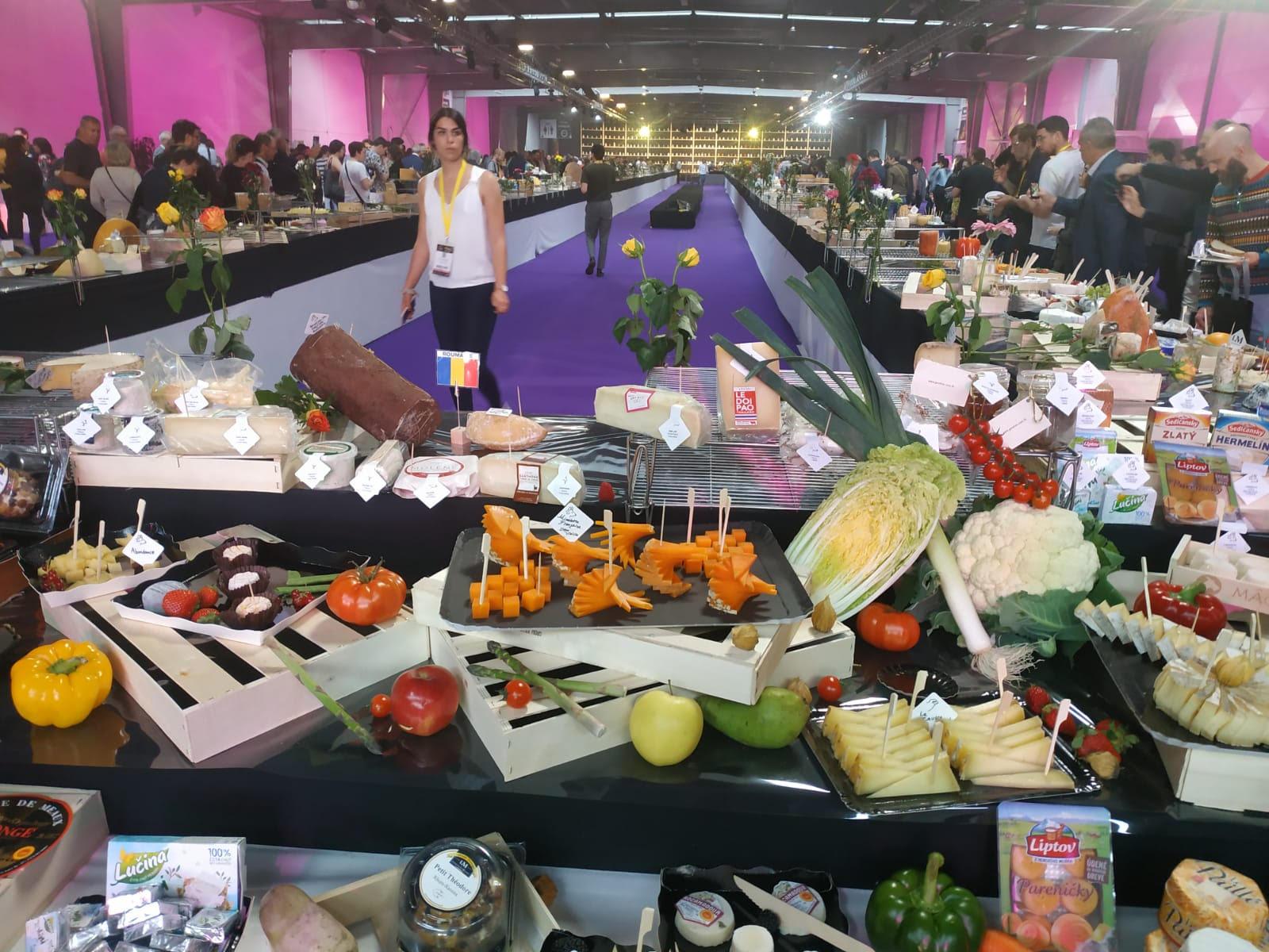 Сырный стол на соревнованиях. Фото: Ynet