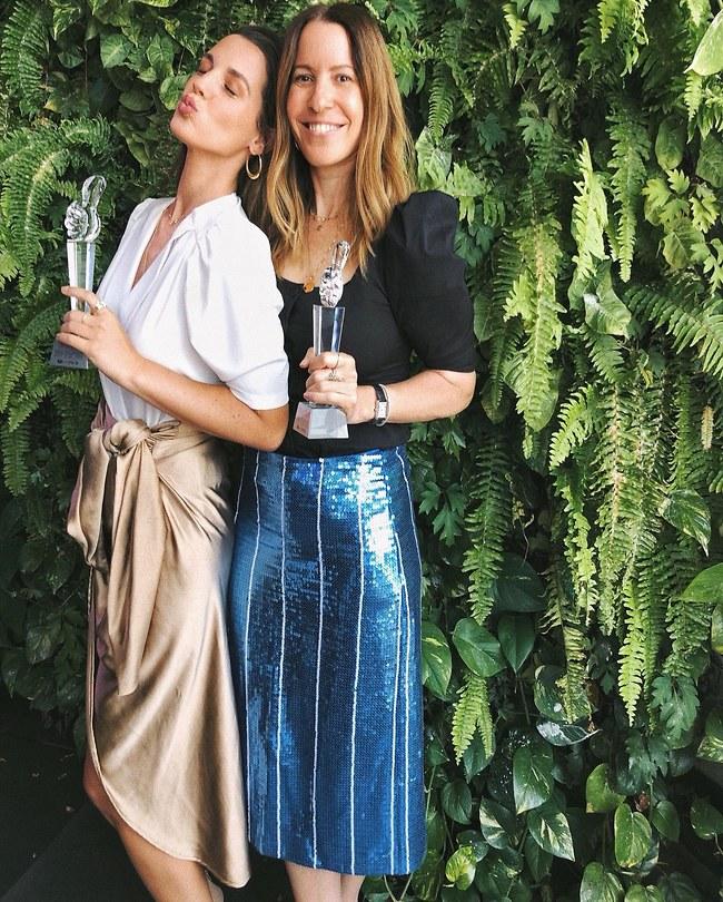 הכי משפיעה. ליאת לוי קופלמן, העורכת הראשית של מגזין Go Style וירדן הראל (צילום: אביב חופי)