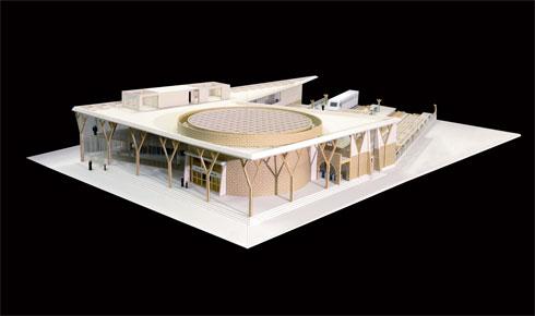 מודל התחנה (אדריכל: אסף ארמון)