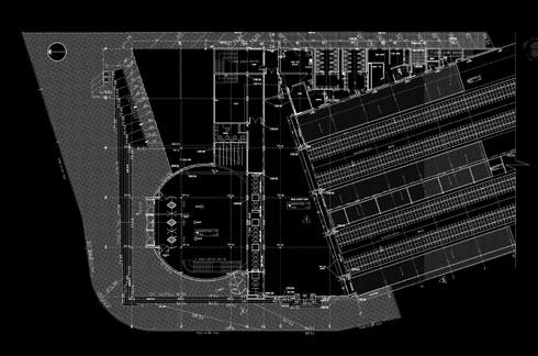 תוכנית התחנה, שנחנכה עם 3 רציפים. כיום נבנה החמישי, ומתוכננים עוד 3 (אדריכל: אסף ארמון)