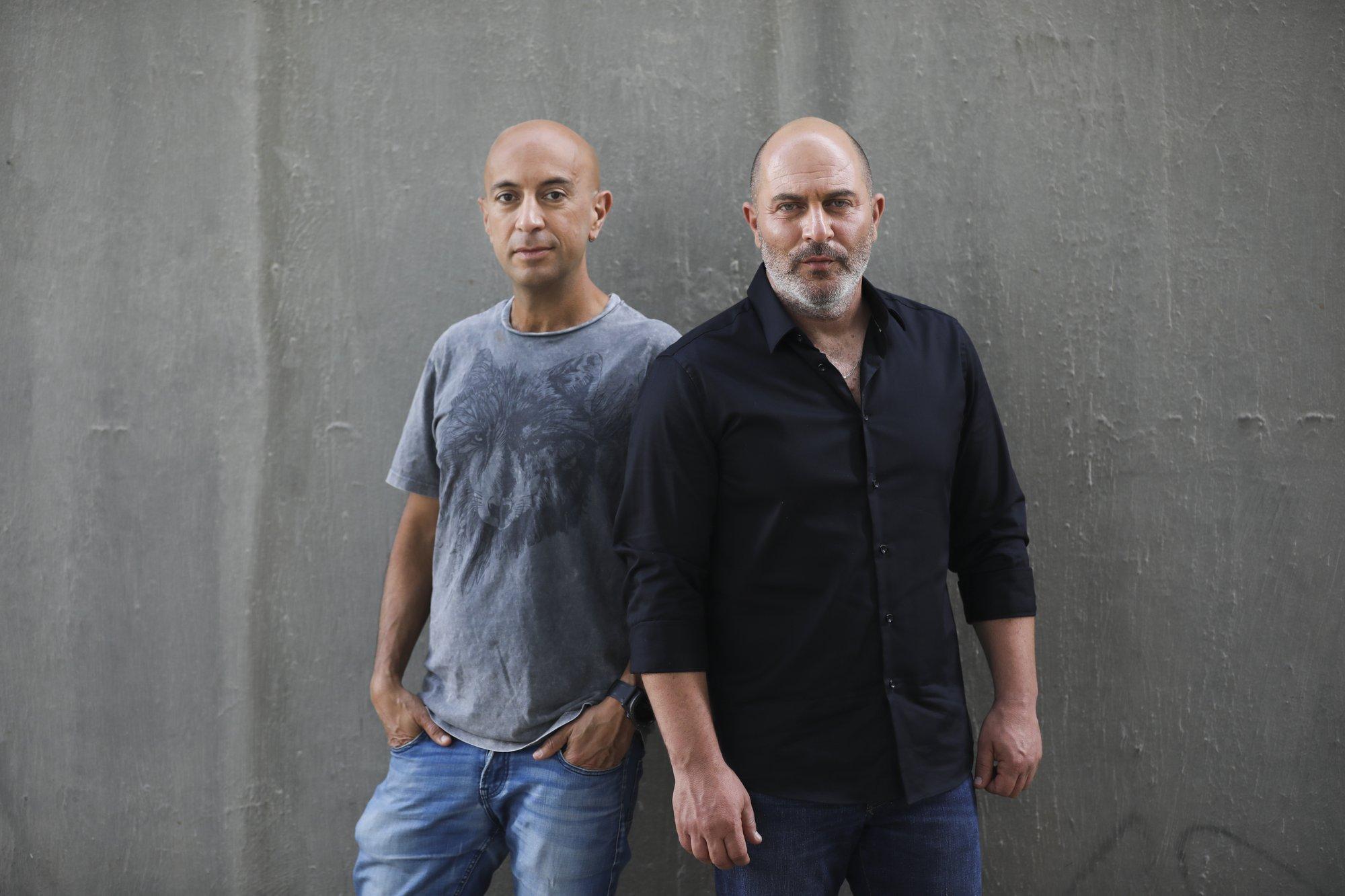 Co-creators of Israel's hit TV show Fauda, Avi Issacharoff, left, and Lior Raz