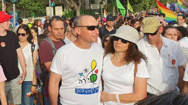 Shira Banki's parents at the march in Jerusalem