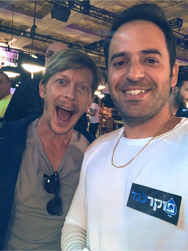 רפי אלהרר עם השחקן עופר שכטר (צילום: פרטי)