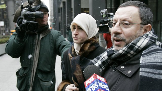 Abdelhaleem Ashqar and his wife leave federal court in Chicago in 2007