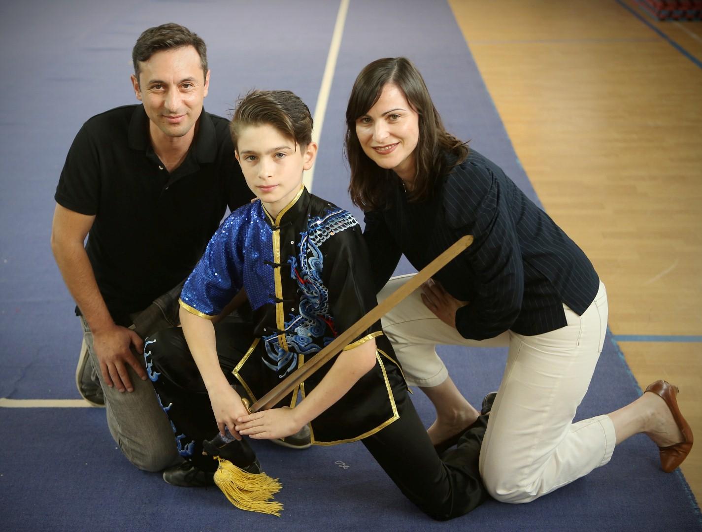 """""""ספורט מעניק ביטחון לנערים"""" (צילום: אבי מועלם)"""