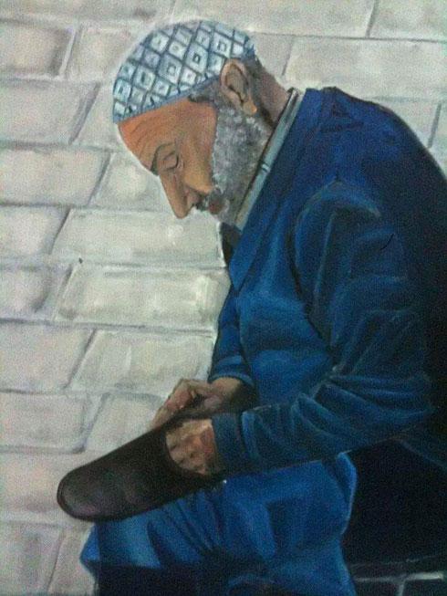 אחד מציוריו. בעיצוב או בייצור לא התנסה עד לפרויקט הזה (צילום: Muhamad Mahalwas)