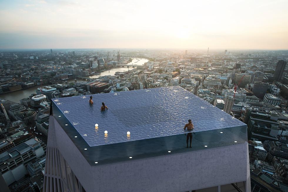 בריכת אינסוף לונדון (Compass Pools )
