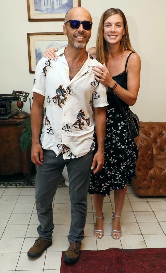 אוהבים אותם. אלי פיניש ואשתו שלי לביא (קרדיט: אמיר מאירי)