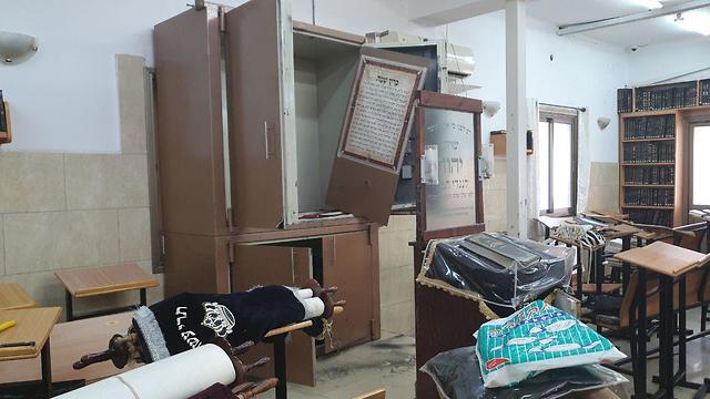 הנזק שנגרם בבית הכנסת