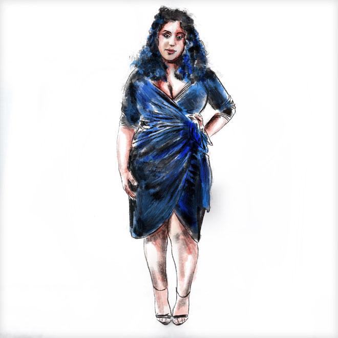 טוענת כי ענף האופנה הישראלי מתעלם לחלוטין מקיומן של נשים שמנות. זוהר וסילויצקי (איור: ארז עמירן)