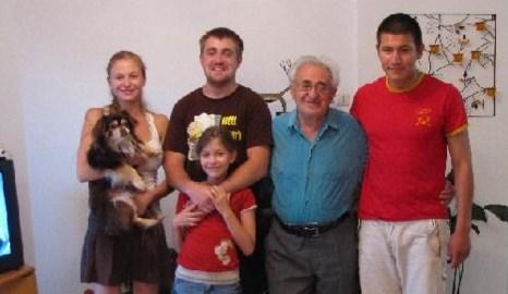 Семен Гитлин в Изpаиле с внуками