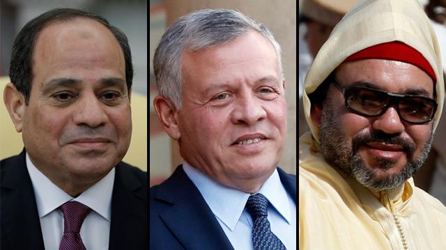Le roi Abdullah II de Jordanie, le roi Mohammed VI du Maroc et le président égyptien Abdel Fatah al-Sisi (Photo: AP)