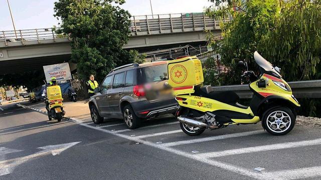 תאונת דרכים מחלף גבעת שמואל (צילום: תיעוד מבצעי מד