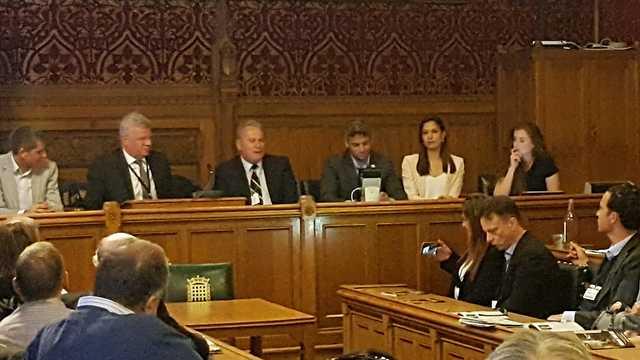 הסברה ישראל פרלמנט בריטי לונדון ארגון חיילי מילואים האמת שלי (צילום: ענבל גילמור)
