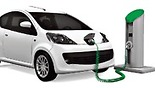 Electric car charges