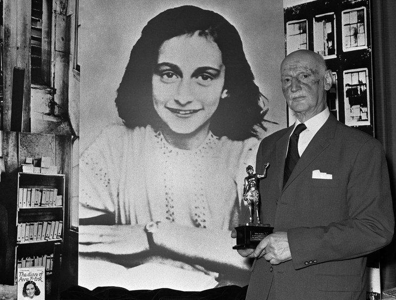 Otto Frank with Anne in the background (Photo: AP)