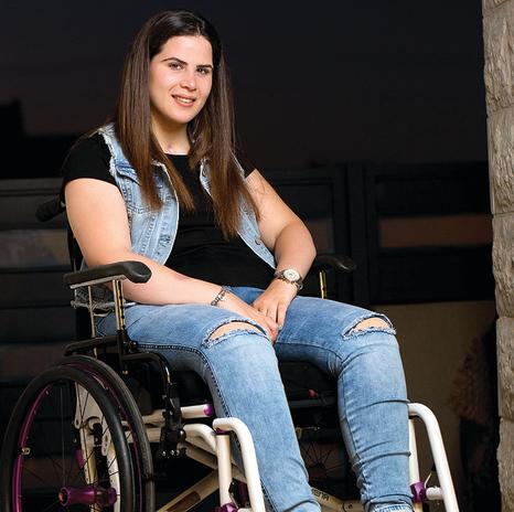 """שנה וחצי אחרי הפציעה,  ספטמבר 2016: """"החלטתי להפסיק לשבת בבית ולהתבכיין. הסתערתי  על הטיפולים והאימונים"""""""