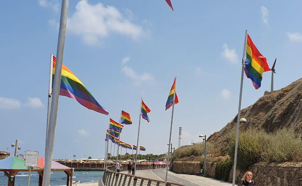 חוף הילטון, מצעד הגאווה (צילום: איתי שיקמן)
