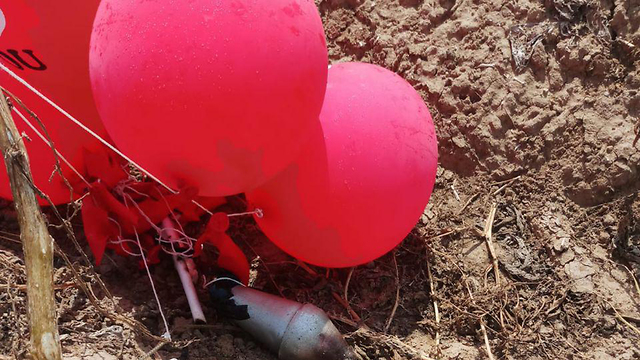 Explosive device attached to balloon found in Kibbutz Ruhama on Thursday