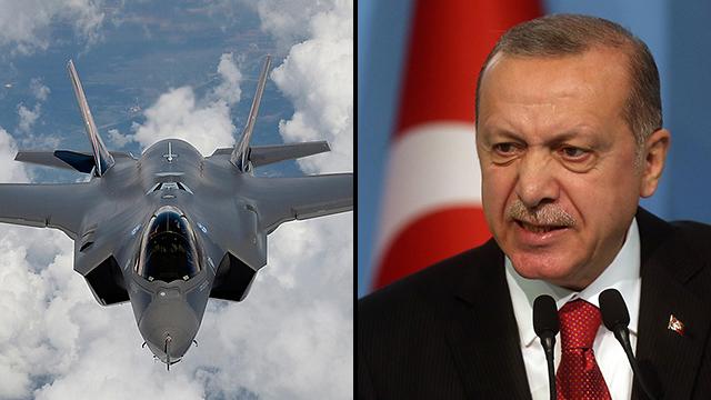 נשיא טורקיה רג'פ טאיפ ארדואן מטוסים מטוס מטוסי F-35 F35 (צילום: MCT )