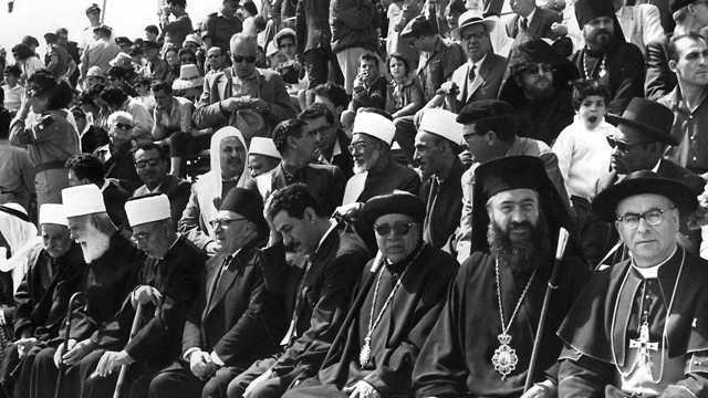 Líderes religiosos observan el Día de la Independencia, Be'er Sheva, 1964