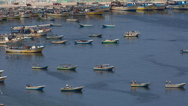 סירות דיג בעזה (צילום: AP)
