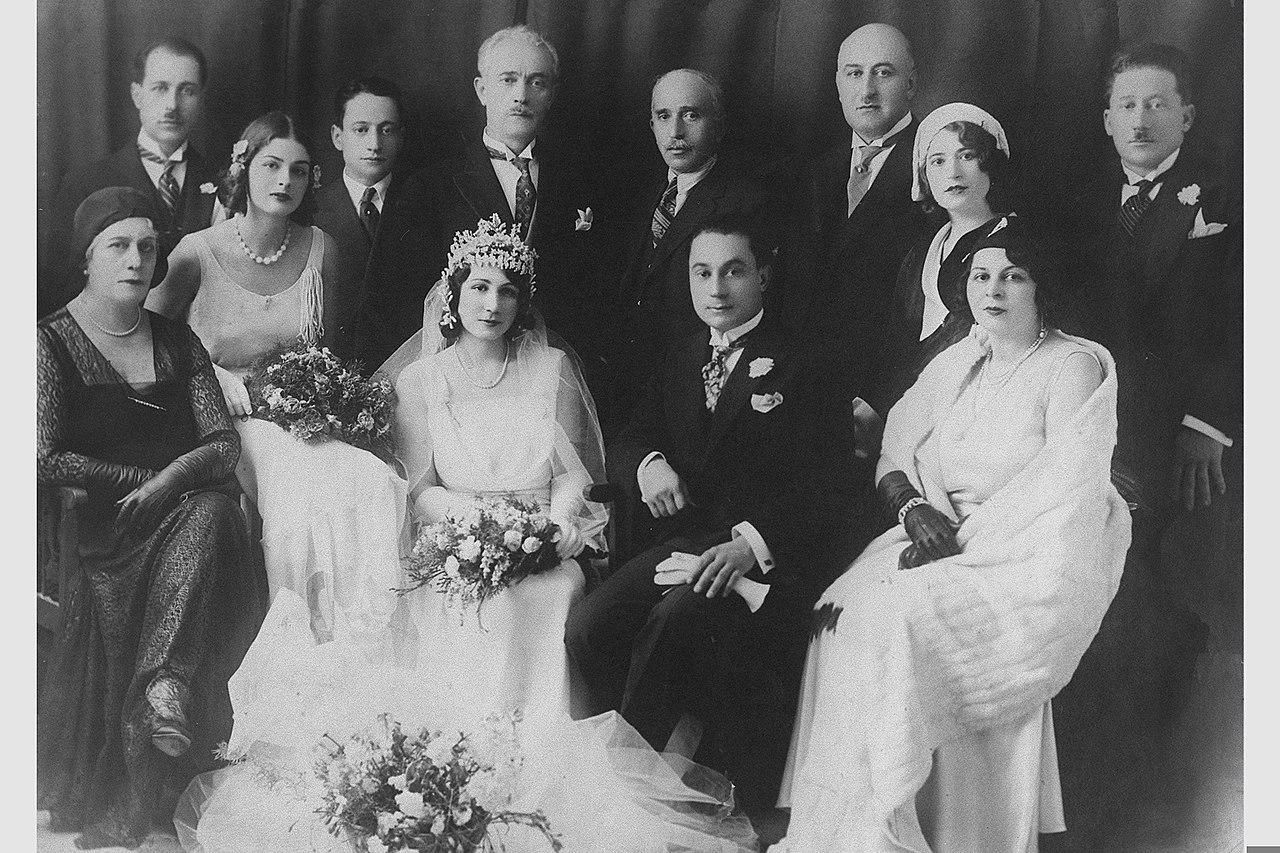 Nashashibi family at a 1929 wedding