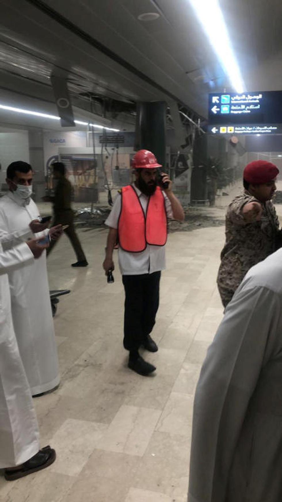 נמל התעופה אבהה בסעודיה שנפגע מטיל שיוט ששיגרו המורדים החות'ים בתימן (צילום: רויטרס)